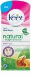 Veet Wax Strips Natural Inspirations™ bandas de cera depilatoria para rostro con aceite de argán