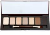 W7 Cosmetics Bronze Queen paleta očních stínů se zrcátkem a aplikátorem
