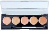 W7 Cosmetics Camouflage Kit paleta korektorjev z ogledalom in aplikatorjem