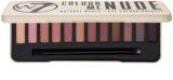 W7 Cosmetics In the Nude paleta farduri de ochi cu aplicator