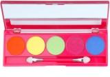 W7 Cosmetics Neon Eyes paleta očních stínů se zrcátkem a aplikátorem