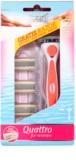 Wilkinson Sword Quattro for Women Papaya & Pearl brivnik + nadomestne britvice 3 kos