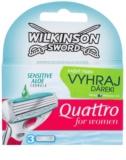 Wilkinson Sword Quattro for Women Sensitive Vervangende Open Messen 3st.