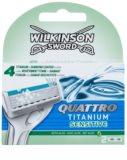 Wilkinson Sword Quattro Titanium Sensitive Змінні картриджі