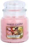 Yankee Candle Fresh Cut Roses ароматизована свічка  411 гр Classic  середня