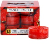Yankee Candle Sweet Strawberry vela de té 12 x 9,8 g