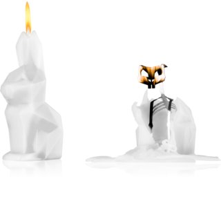 54 Celsius PyroPet HOPPA (Bunny) candela decorativa White
