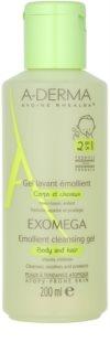 A-Derma Exomega омекотяващ почистващ гел за тяло и коса за деца