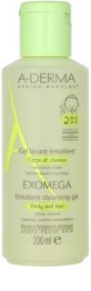 A-Derma Exomega mehčalni gel za umivanje za telo in lase  za otroke