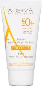 A-Derma Protect schützendes Fluid für normale und gemischte Haut SPF 50+