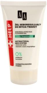 AA Cosmetics Help Acne Skin antibakterielles Reinigungsgel zur Reduktion der Talgproduktion