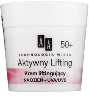 AA Cosmetics Age Technology Active Lifting glättende Creme zur Festigung der Gesichtskonturen 50+