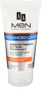 AA Cosmetics Men Advanced Care creme energizante para rosto