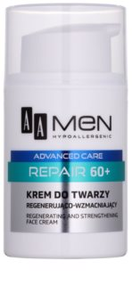 AA Cosmetics Men Advanced Care crema rigenerante riparatrice viso 60+