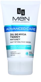 AA Cosmetics Men Advanced Care gel detergente opacizzante per il viso