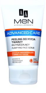 AA Cosmetics Men Advanced Care gel exfoliant de curatare facial