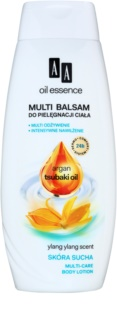 AA Cosmetics Oil Essence Argan,Tsubaki vyživující tělové mléko pro suchou pokožku