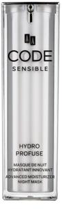 AA Cosmetics CODE Sensible Hydro Profuse Nachtverzorging - Hydraterende Masker  voor Gevoelige Huid