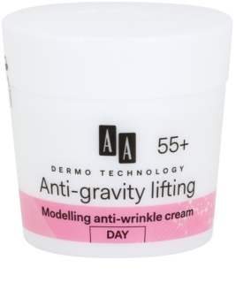 AA Cosmetics Dermo Technology Anti-Gravity Lifting creme de modelagem com efeito antirrugas 55+