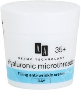 AA Cosmetics Dermo Technology Hyaluronic Microthreads  auffüllende Tagescreme gegen Falten 35+