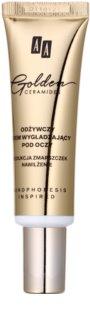 AA Cosmetics Golden Ceramides nährende Augencreme mit glättender Wirkung