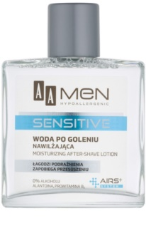 AA Cosmetics Men Sensitive aftershave water cu efect de hidratare