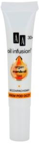 AA Cosmetics Oil Infusion2 Argan Marula 30+ oční protivráskový krém s hydratačním účinkem