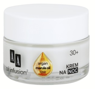 AA Cosmetics Oil Infusion2 Argan Marula 30+ Night Nourishing Cream With Anti-Wrinkle Effect