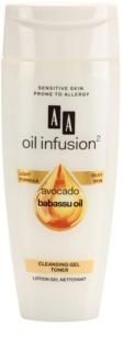 AA Cosmetics Oil Infusion2 Avocado Babassu Gel Tonic  voor Perfecte Reiniging van de Huid