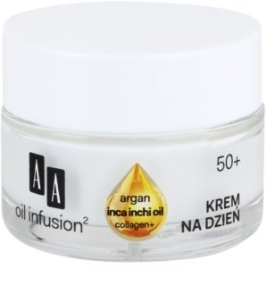 AA Cosmetics Oil Infusion2 Argan Inca Inchi 50+ crème lifting de jour anti-rides