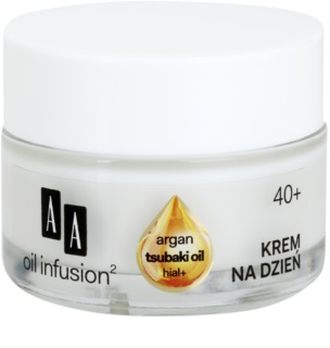 AA Cosmetics Oil Infusion2 Argan Tsubaki 40+ Firming Day Cream With Anti-Wrinkle Effect