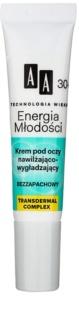 AA Cosmetics Age Technology Youthful Vitality feuchtigkeitsspendende und glättende Augencreme 30+