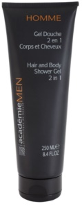 Academie Men Shower Gel For Body And Hair 2 In 1