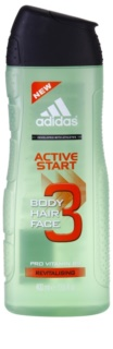 Adidas 3 Active Start (New) gel doccia per uomo 400 ml