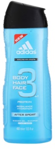 Adidas 3 After Sport gel za prhanje za moške 400 ml