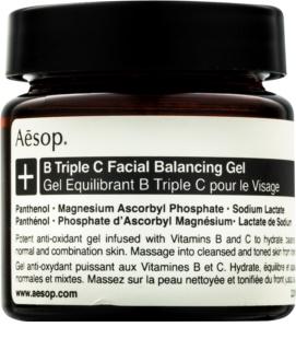 Aēsop B Triple C Facila Balancing Gel gel antioxidante para a pele com vitaminas