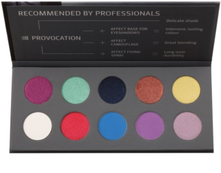 Affect Provocation paleta očních stínů 10 barev