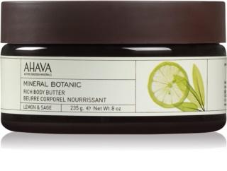 Ahava Mineral Botanic Lemon & Sage vyživující tělové máslo
