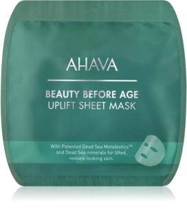 Ahava Beauty Before Age wygładzająca płócienna maseczka z efektem liftingującym