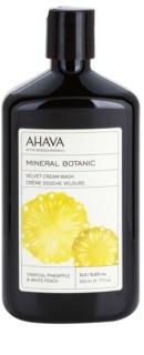 Ahava Mineral Botanic Tropical Pineapple & White Peach sametový sprchový krém