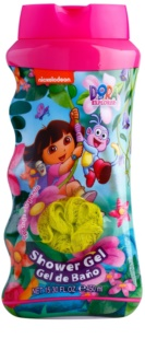 Air Val Dora The Explorer sprchový gel pro děti 450 ml + mycí houba