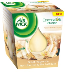 Air Wick Essential Oil Vanilla & Brown Sugar vonná sviečka 105 g