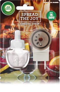 Air Wick Spread the Joy Fireside Cheer diffuseur électrique de parfum d'ambiance 19 ml avec recharge