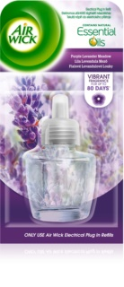 Air Wick Essential Oils Purple Lavander Meadow diffuseur électrique de parfum d'ambiance 19 ml recharge
