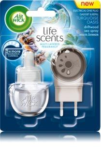 Air Wick Life Scents Turquoise Oasis електричний освіжувач повітря 19 мл з наповненням
