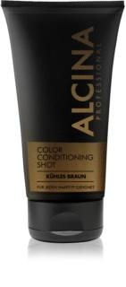 Alcina Color Conditioning Shot Brown balsam pentru tonifiere pentru a evidentia culoarea parului
