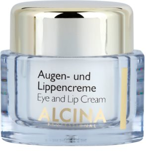 Alcina Effective Care Oog en Lip Crème met Glad makende Effect