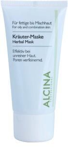 Alcina For Oily Skin bylinná maska proti lesknutiu pleti a rozšíreným pórom