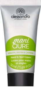 Alessandro Maniqure Nourishing Cream On Hands And Nails