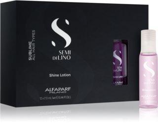 Alfaparf Milano Semi di Lino Sublime Rescructuring Multiplier  засіб для оновлення пошкодженого волосся в ампулах
